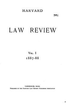 Harvard Law Review Volume 1.djvu