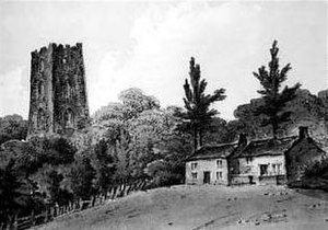 Camberley - The Obelisk, painted by John Hassell in 1812