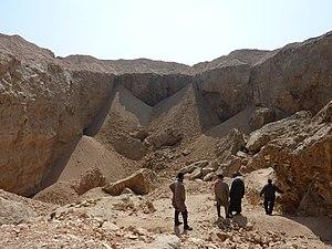 "Hatnub - Main quarry (""Quarry P"") at Hatnub"
