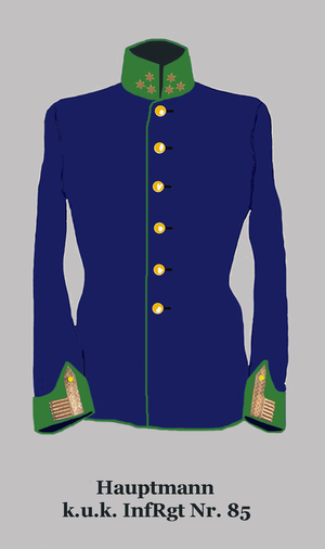 Imperial and Royal Infantry - Captain Hungarian infantry (facings:apple green)