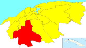Boyeros - Image: Havana Map Boyeros