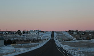 Hayes, South Dakota - A view of Hayes while traveling west on Highway 14.