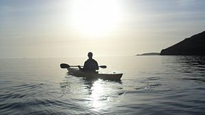 English: Kayaking on the Helford River