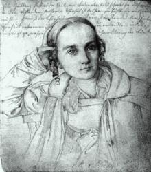 Helmina von Chézy (Zeichnung von Wilhelm Hensel) (Quelle: Wikimedia)