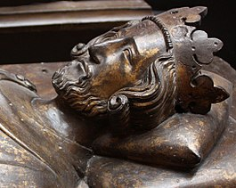 Effigie van Hendrik III in Westminster Abbey, ca. 1272.