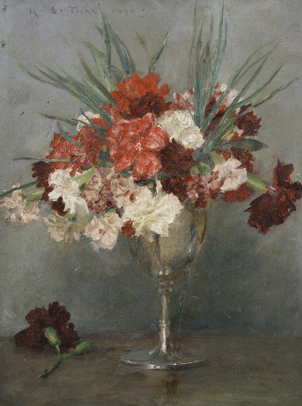 Henry Scott Tuke - Carnations - a study