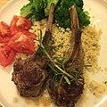 Herb marinated lamb riblets with cous cous, tomatoes, and broccoli 仔羊リブの香草焼き、クスクス、トマトとブロッコリー.jpg