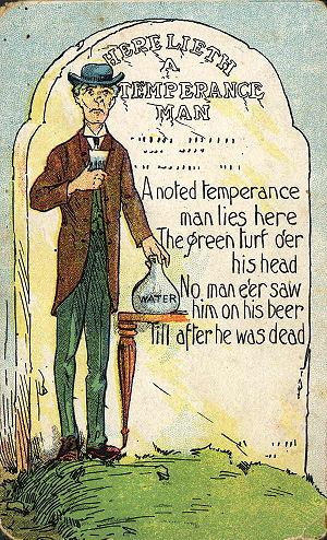 Temperance movement - A cartoon from Australia