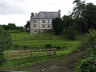 Lewys Glyn Cothi - Hergest Court, Herefordshire, once a large mansion belonging to the Vaughan family, patrons of Lewys Glyn Cothi. The White Book of Hergest, compiled by Lewys, and the Red Book of Hergest were once kept here.