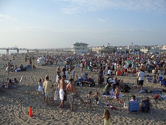 Hermosa Beach, California - Hermosa Beach sunset concert