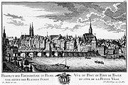 Ansicht der Stadt Baselin der «Topographie der Eydgnoßschaft» von David Herrliberger, ca. 1761