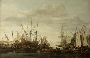 Keelhauling - The keelhauling of the ship's surgeon of admiral Jan van Nes, Lieve Pietersz. Verschuier. 1660 to 1686
