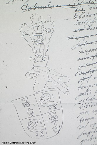 Andries de Graeff - Coat of Arms as knights of the Holy Roman Empire