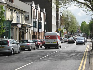Kings Heath - Image: High Street Kings Heath, The Station Pub on the Left geograph.org.uk 1283548
