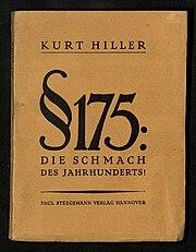 Paragraph 175, die Schmach des Jahrhunderts