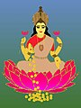 Hindu Goddess of Wealth Lakshmi on Lotus.jpg