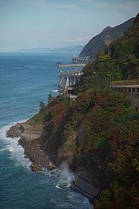 Hokuriku Expressway and Route 8 Oyashirazu Niigata JPN 001.jpg