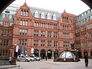 Holborn Bars - Holborn: Waterhouse Square, 142 Holborn Bars, EC1 Waterhouse Square is an internal courtyard at the rear of the Prudential Assurance building and is named after Alfred Waterhouse, the original architect of that building. This photo was taken from under the arch in 667977 and shows the domed skylight feature.