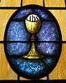 Holy Family Catholic Church (North Baltimore, Ohio) - stained glass, Eucharist.jpg