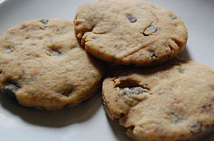 Homemade chocolate chip cookies, fresh out of ...