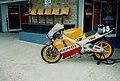 Honda NSR500 of Sete Gibernau on display 1999 Donington Park.jpg