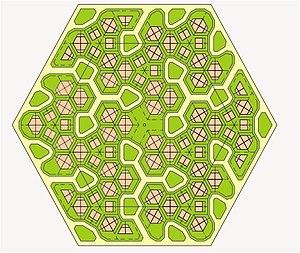 Honeycomb housing - A honeycomb neighbourhood.