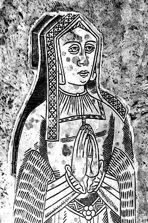 Honor Grenville, Viscountess Lisle - Image: Honor Grenville Brass Detail Atherington Devon