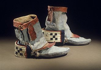 Moccasin - Image: Hopi Pueblo (Native American). Dancing Shoes, late 19th century