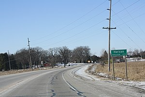 Horicon, Wisconsin - Image: Horicon Wisconsin Sign WIS33