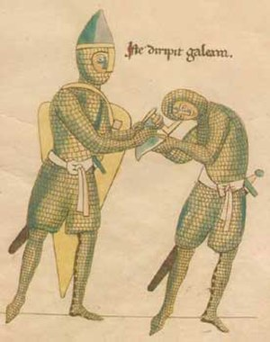Byzantine army (Komnenian era) - 12th century western European knights. Their helmets are of the 'Phygian cap' shape (with a forward-deflected apex), a type also used and manufactured by the Byzantines