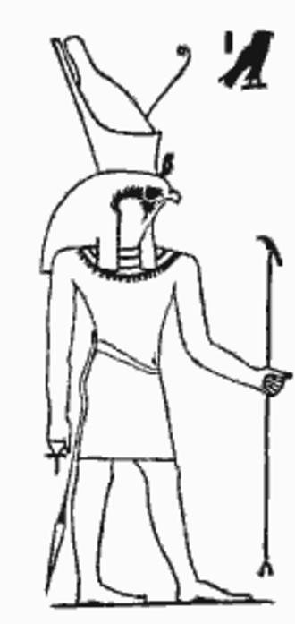 Ennead - Image: Horus from Egyptian Mythology and Egyptian Christianity