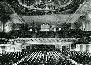 Howard Theatre - Interior of the Howard Theatre at 620 T Street NW, ca. 1915.