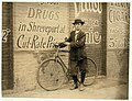 Howard Williams, thirteen year old delivery boy for Shreveport, La. Drug Company. He works from 9-30 A.M. to 10-30 P.M.; has been here three months. Goes to the Red Light every day and LOC cph.3b00364.jpg