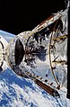 Hubble Space Telescope (HST) above OV-103's PLB during STS-31 deployment.jpg
