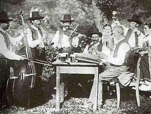 Moravian traditional music - Folk musicians from Kunčice, Moravia (1890s)