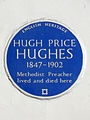 Hugh Price Hughes 1847-1902 Methodist preacher lived and died here.jpg