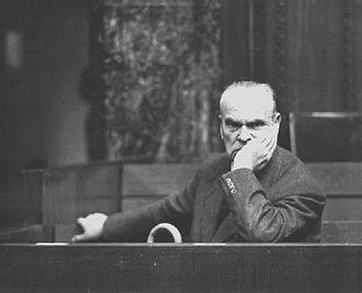 Hugo Sperrle - Sperrle during the High Command Trial in Nuremberg, 1948