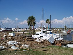 Hurricane Ike Port Arthur TX docks.jpg