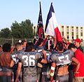 Hurricanes Montpellier drapeaux victoire en finale 2014.JPG