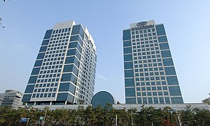 Hyundai Motor Company - Hyundai Motor Company Headquarters (right) in Seoul, South Korea