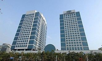 Hyundai Motor Company - Hyundai Motor Company Headquarters (right) in Seoul, South Korea
