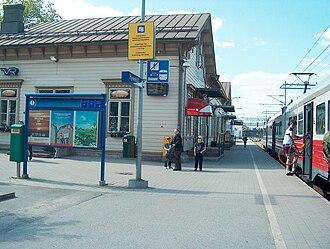Hyvinkää - Hyvinkää railway station, the oldest building in the city centre.