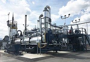 Omni Processor - Omni Processor (sewage sludge treatment system using combustion) at Janicki Bioenergy's headquarters in the U.S.