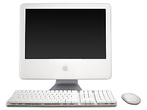"An iMac G5 17"" (Rev. A or B) with an Appl..."
