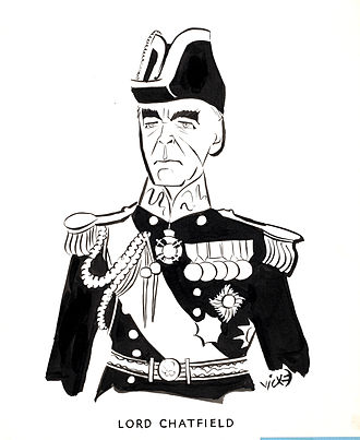 Ernle Chatfield, 1st Baron Chatfield - Victor Weisz's caricature of Chatfield