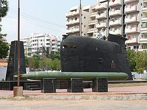 INS Kalvari (S23) - INS Kalvari submarine fin at RK Beach