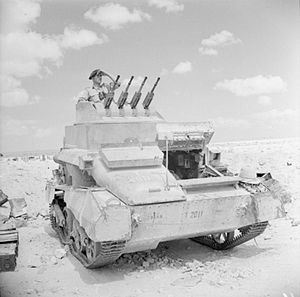 Besa machine gun - Vickers Light Tank AA MkI with 4 Besa machine guns