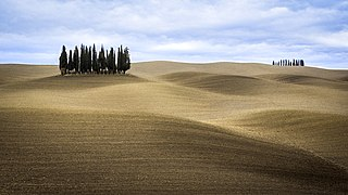 Val dOrcia valley and cultural landscape in central Italy; a World Heritage site