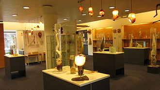 Icelandic Phallological Museum - Penis collection with testicle lightshades at the new exhibition room of the Icelandic Phallological Museum in Reykjavík