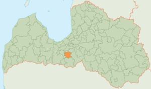 Iecava Municipality - Image: Iecavas novads karte